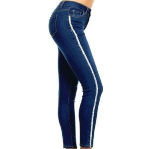 Plus Rhinestone Skinny Jeans
